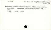 Manurewa Central Primary School 75th anniversary, 1906-1981.