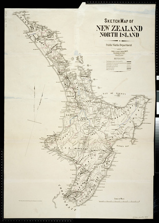 Map Of New Zealand North Island.Sketch Map Of New Zealand North Island Collections Online