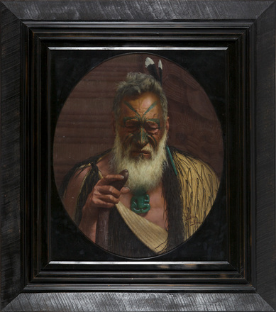 Tikitere Mihi, a Noted Chieftain of the Ngatiuenuku