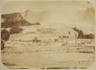 View of limestone terraces - the White Terrace of ...