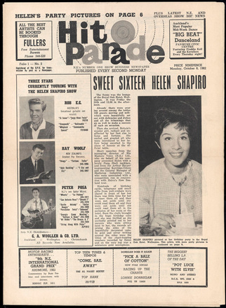 Hit parade : N.Z.'s number one show business newspaper : Folio 1, no.2