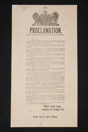 [German Samoa Proclamation] - Auckland War Memorial Museum Tamaki Paenga Hira