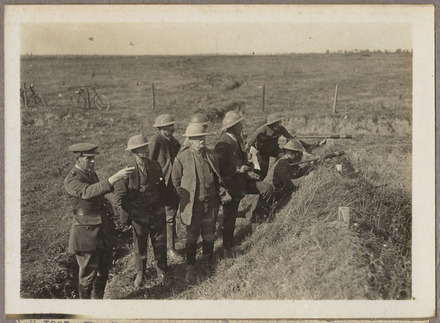 The New Zealand war Correspondent points out the scene of the New Zealanders…