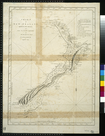 Chart of New Zealand