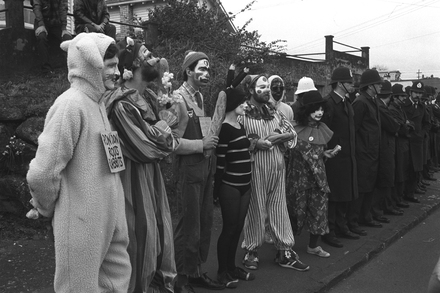 Clowns Lined Up With Red Squad Marlborough Street Near Eden Park