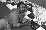 Black and white photograph of Samoan artist, Fatu ...