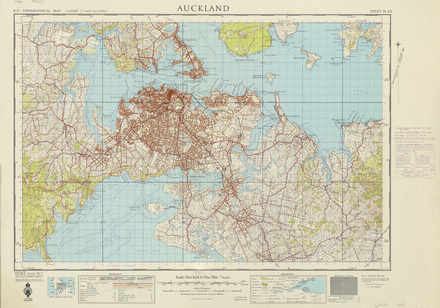 New Zealand Topographic Map 1st Series 1 Inch To 1 Mile North