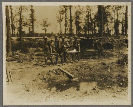 N.Z. stretcher bearers at work.