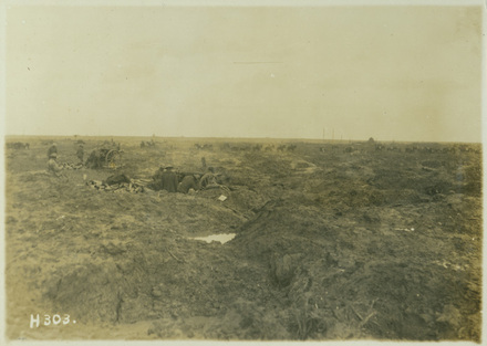 NZ Fieldguns in the mud, Passchendaele, Oct 1917 - Auckland War Memorial Museum Tamaki Paenga Hira