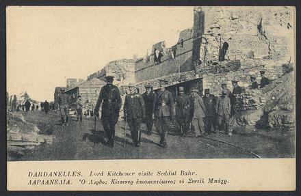 Dardanelles. Lord Kitchener visite Seddul Bahr - Auckland War Memorial Museum Tamaki Paenga Hira