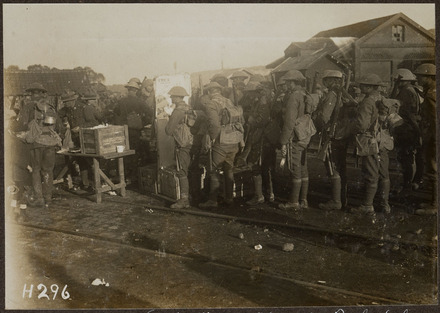 Y.M.C.A. Buckshee Stint at W.. Siding after Passchendaele - Auckland War Memorial Museum Tāmaki Paenga Hira
