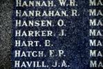 John (Jack) name enscribed on Hokitika War Memorial - No known copyright restrictions.
