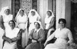 Nurses at Aotea Home - Seated in Front: Sister Kate Booth, Matron M Early, & Sister B McDonald - No known copyright restrictions.