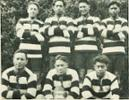 The Hauiti 7-a-side team which won the G. A. McNeil Cup in 1927 are, from left, Rawiri Kutia, Karu Puhipuhi, John Paea, Tu KiriKiri, and in front, H. Rangiuia, H. K. Tamihana and J. Temepara. - No known copyright restrictions.