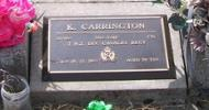 817460, 2nd NZEF, Cpl K. CARRINGTON, 2 NN Div Cavalry Regt, died 18.12.2003 aged 79 years. - No known copyright restrictions.