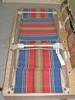 canvas and metal deck chair