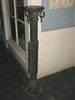 hitching post : metal post with stand for attachin...