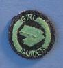 cloth; circular; green on navy; machine embr. moti...