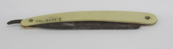 cut-throat razor, yellow handle