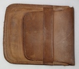 purse; man's; fine brown leather with sovereign co...