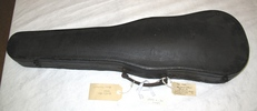 Black violin case with hinged lid. Has col.3282 in...