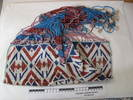 Beaded apron. Red, white, pink and blue beads.