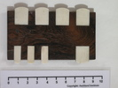 whist markers, wood and ivory; .1 brown wooden hin...
