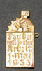 fundraising badge, National Workers Day badge, 193...