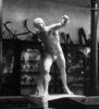sculpture, plaster cast, male figure, Fighting Gla...