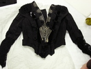 dress, woman's, two piece, black, full-shaped skir...