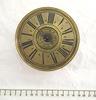 clock, table, round, three turned feet, gilt brass...