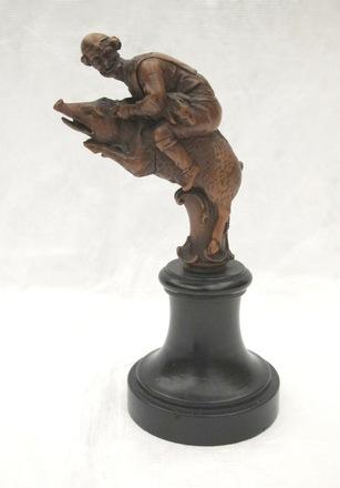 figure, man on boar