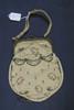 woman's purse cream coloured [silk] purse with pin...