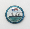 Souvenir button badge H.M.S. New Zealand in silver...