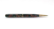 propelling pencil plastic body in mottled red, gol...