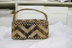 basket; right angle plaited basket, pandanus, one ...