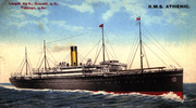 Postcard RMS Athenic, c. 1906? - No known copyright restrictions