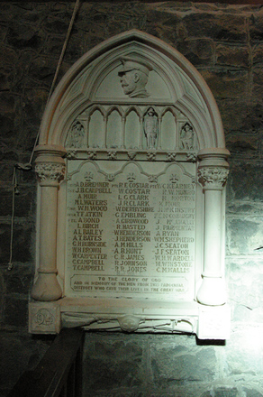 Memorial WW1 inside Selwyn Chapel at Christ Church (Anglican), Papakura, Auckland (photo John Halpin 2010) - CC BY John Halpin