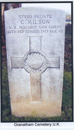 Headstone of 37930 Charles Milson, Grantham Cemetery, Lincolnshire, UK - No known copyright restrictions