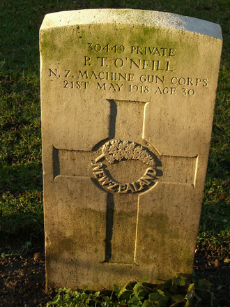 Headstone, Codford St. Mary ANZAC Cemetery, January 2011 - No known copyright restrictions