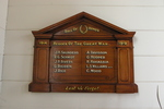 Roll of Honour, WW1, Christ's Church (Anglican), Russell (photo J. Halpin November 2010) - No known copyright restrictions