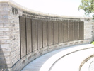 Bourail Memorial panels 3rd from left Panel 3 - This image may be subject to copyright