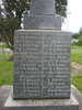 Names plinth, Waiotemarama memorial, Northland, supplied by GA Fortune 2008 - Image has All Rights Reserved