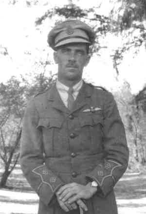 Portrait, Charles Pratt in uniform with wings cloth badge. - No known copyright restrictions