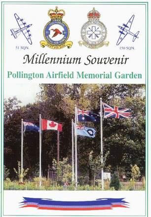 Image 1: Pollington Airfield Memorial Garden, cover Millennium Souvenir publication. (Photo J. Ross) - This image may be subject to copyright