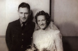 Wedding, WW2 of Rolph Joseph Benfield (NZ42362) and Sarah Jean Griffin of 17 October 1942 in Wellington. - This image may be subject to copyright