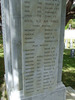 Name panels, Wellington Provincial Memorial, Karori Cemetery (provided by Paul Baker December 2012) - This image may be subject to copyright