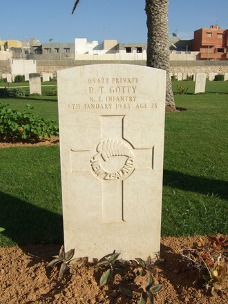 Headstone, Tripoli War Cemetery, Libya (photo B. Coutts, 2009) - This image may be subject to copyright