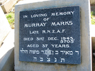 Headstone, Murray Marks, Linwood Cemetery, Christchurch (photo provided by Sarndra Lees 2011) - This image may be subject to copyright
