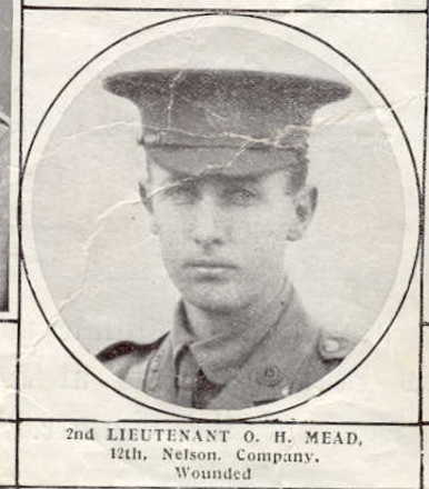 Portrait of 2nd Lieutenant Mead, wounded